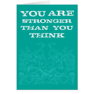 Teal Be Strong Note Card