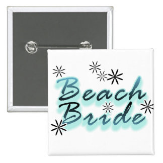 Teal Beach Bride Tshirts and Gifts Pin