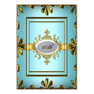 Teal Birthday Party Invitation Teal Gold