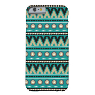Teal Black Gold Aztec Modern Stylish iPhone 6 Case Barely There iPhone 6 Case