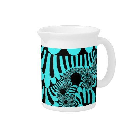 Teal Black Mod Pitcher