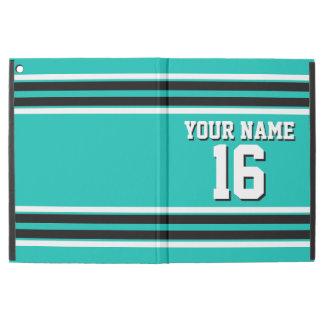 Teal Black Team Jersey Custom Number Name