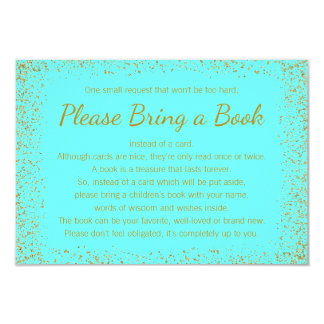 Teal Blue and Gold Bring a Book Cards