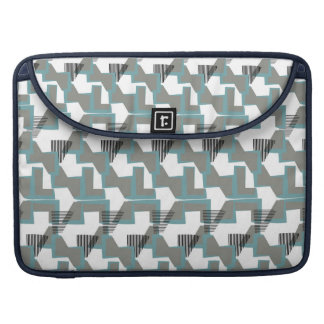 Teal blue and grey abstract pattern sleeve for MacBook pro