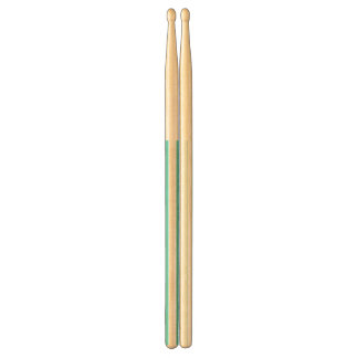 Teal Blue and White Stripe Pattern Drumsticks