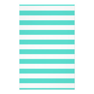 Teal Blue and White Stripe Pattern Flyer