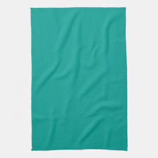 Teal Blue Aqua Personalized Turquoise Background Kitchen Towel