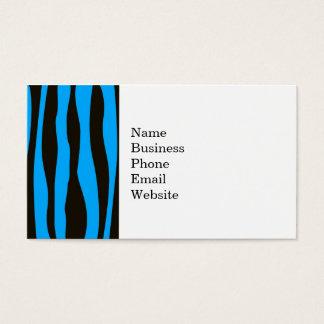 Teal Blue Black Tiger Zebra Stripes Wild Animal Business Card