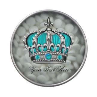 Teal Blue Crown Prince Baby Shower Candy