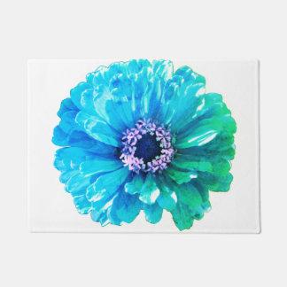 Teal Blue Daisy Doormat