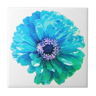 Teal Blue Daisy Tile