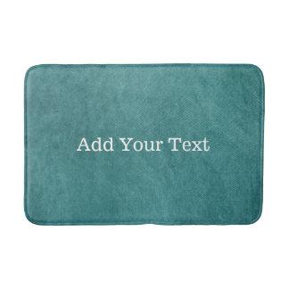 Teal Blue Digital Fabric Texture by Shirley Taylor Bath Mat