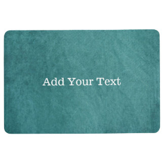 Teal Blue Digital Fabric Texture by Shirley Taylor Floor Mat