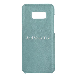 Teal Blue Digital Fabric Texture by Shirley Taylor Uncommon Samsung Galaxy S8 Plus Case