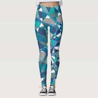 Teal & Blue Geometric Leggings
