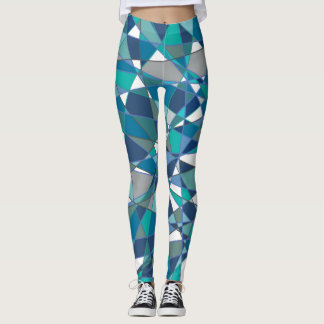 Teal & Blue Geometric Leggings
