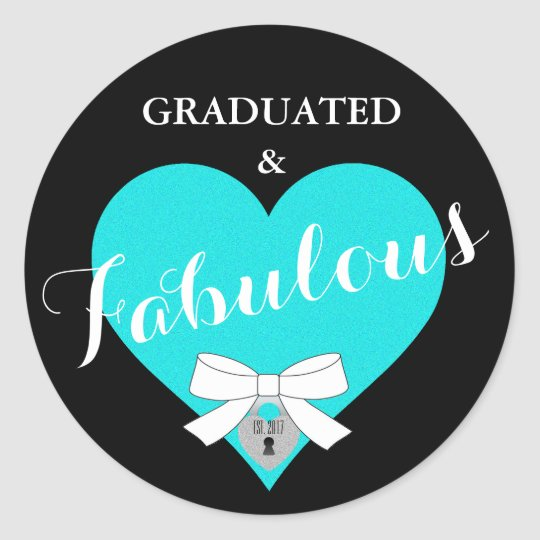 Teal Blue Graduation Celebration Party Stickers