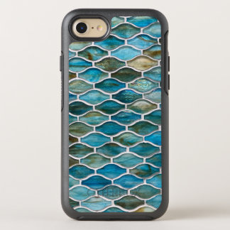 Teal Blue Green Abstract Tile OtterBox Symmetry iPhone 8/7 Case
