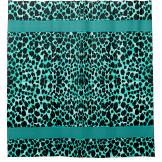 Teal Blue Green Leopard Animal Print