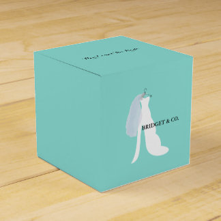 Teal Blue Here Comes The Bride Party Boxes