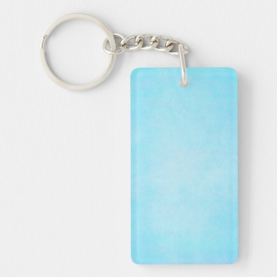 Teal Blue Light Watercolor Template Blank Double-Sided Rectangular Acrylic Keychain