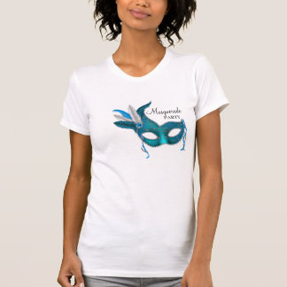 Teal Blue Mask Masquerade Party Shirt