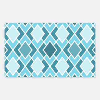 Teal Blue Modern Diamond Geometric Pattern Sticker
