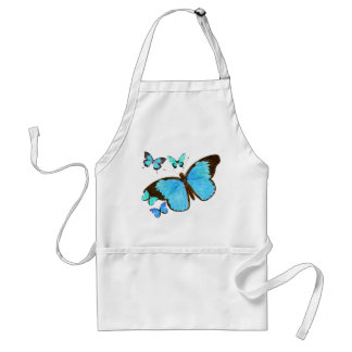 Teal Blue Morpho Butterflies Wildlife Animal Apron