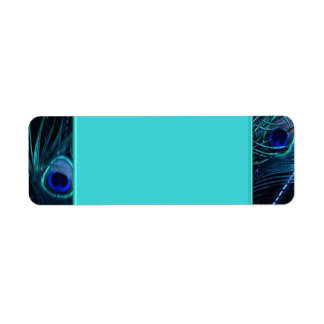 Teal Blue Peacock Address Labels