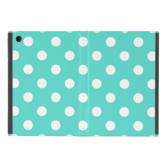 Teal Blue Polka Dot Pattern iPad Mini Cases