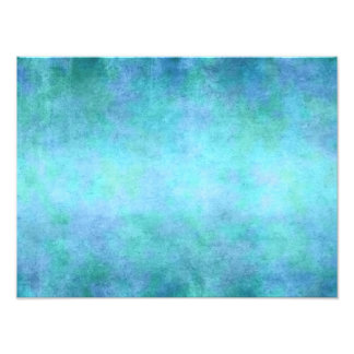 Teal Blue, Purple, Aqua, and Violet Watercolor Photograph