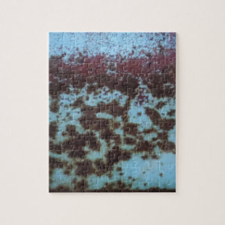 Teal Blue & Purple Rusted background Puzzle