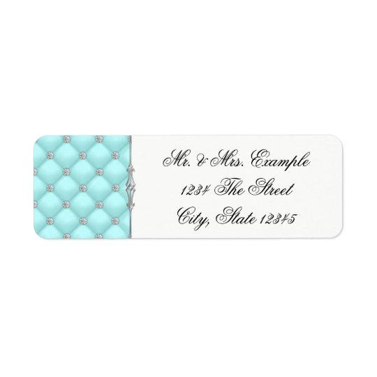 Teal Blue Return Address Labels