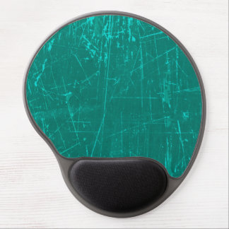 Teal Blue Scratched Aged and Worn Texture Gel Mousepads