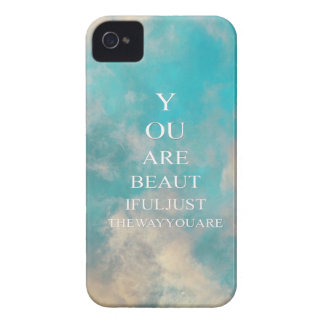 Teal Blue Sky Love Quote iPhone 4 Cover