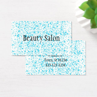Teal Blue Spotted Business Cards