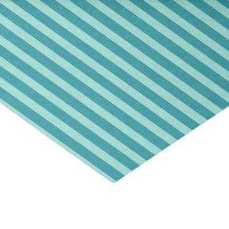 Teal & Blue Stripes Tissue Paper