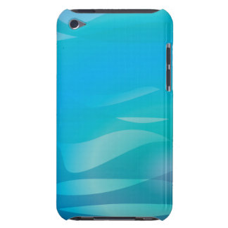 Teal Blue Water Abstract Template Barely There iPod Case
