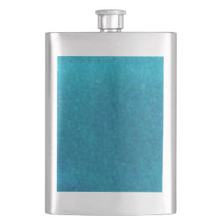 Teal Blue Watercolor Aqua Water Color Background Hip Flask