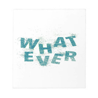 Teal Blue Whatever PNG Notepad