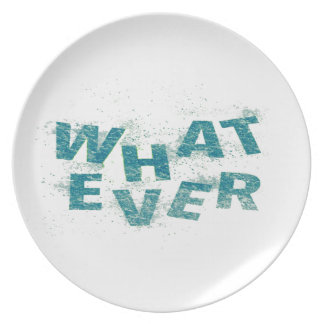 Teal Blue Whatever PNG Plate