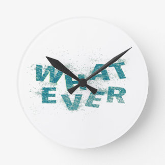 Teal Blue Whatever PNG Round Clock