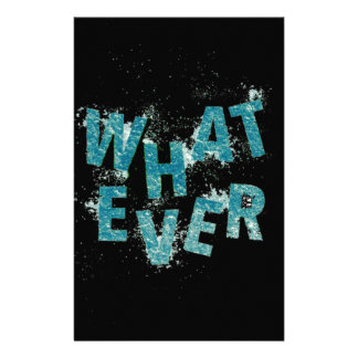 Teal Blue Whatever Stationery