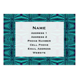 Teal Blue Wire Abstract Pattern Business Cards
