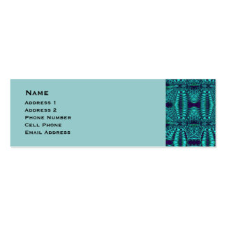 Teal Blue Wire Abstract Pattern Business Card Templates