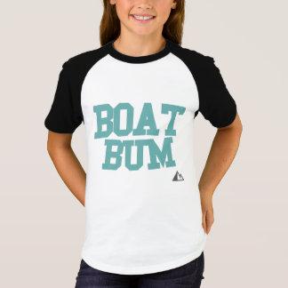 Teal Boat Bum Shirt with Mountain Bum Logo
