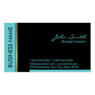 Teal Border Marriage Counseling Business Card