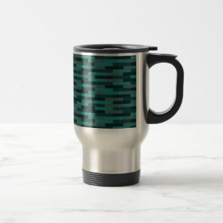 Teal Bricks Stainless Steel Travel Mug