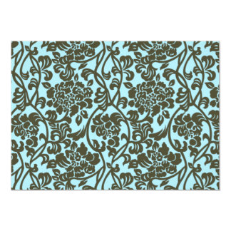 Teal Brown Damask Style Formal Event Invitation