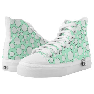TEAL BUBBLES HIGH-TOP SNEAKER